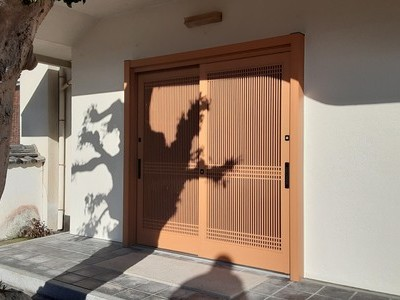 リシェント玄関引戸入替え工事